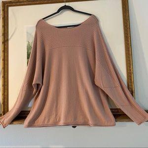 Garnet Hill 100% Cashmere Knit Sweater Blouse Top